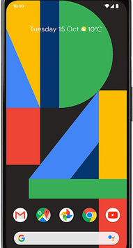 Google Pixel 4 XL (64GB Just Black) at £19.00 on Red (24 Month(s) contract) with UNLIMITED mins; UNLIMITED texts; 24000MB of 5G data. £47.00 a month.
