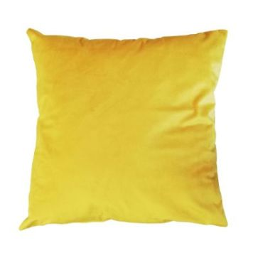 Hamilton McBride Velvet Cushion 55 x 55cm Ochre Yellow