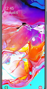 Samsung Galaxy A70 Dual Sim (128GB Black Used Grade A) at £9.00 on Unlimited Max with Entertainment (24 Month(s) contract) with UNLIMITED mins; UNLIMITED texts; UNLIMITEDMB of 5G data. £54.00 a month.