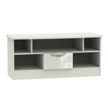 Weybourne TV Unit Cream 5 Shelf 1 Drawer