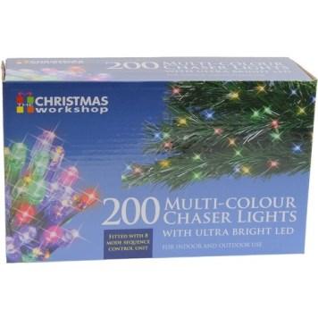 Benross Multi Coloured Ultra Bright LED String Chaser Lights - 200 LED