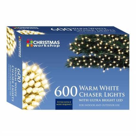 Benross Warm White Ultra Bright LED String Chaser Lights - 600 LED
