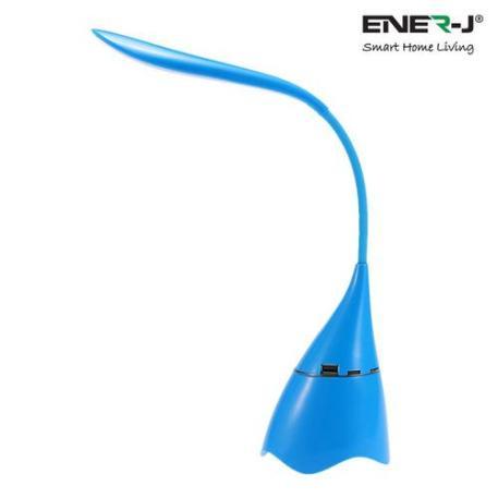 Ener-J LED Desk Lamp with Bluetooth Speaker - Blue