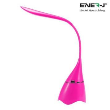 Ener-J LED Desk Lamp with Bluetooth Speaker - Pink