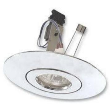 Eterna LED Compatible Recessed Downlight Hole Converter Lighting Fixture Kit - White