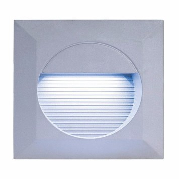 KnightsBridge IP44 Square 14 White LED Recessed Stair & Wall Guide Light - White