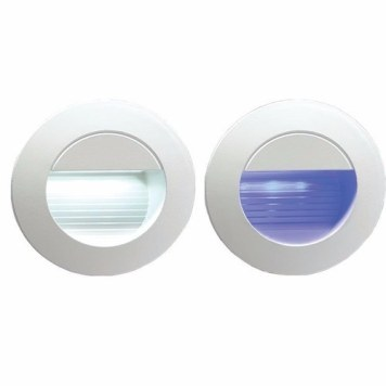 KnightsBridge IP54 Round LED Recessed Stair & Wall Guide Light - Blue