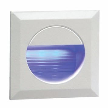 KnightsBridge IP54 Square LED Recessed Stair & Wall Guide Light - Blue