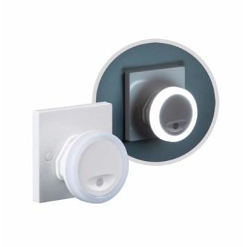 KnightsBridge Plug In Compact LED Wall Night Light with Sensor