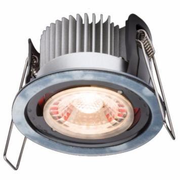 KnightsBridge ProKnight Fixed 8W IP65 LED Downlight With No Bezel - Warm White
