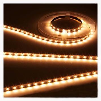 KnightsBridge Warm White 12V LED IP20 Flexible Indoor Internal Rope Lighting Strip - 5 Meter
