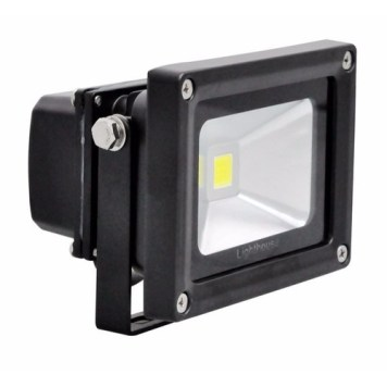 Lighthouse IP65 Ultra Efficient LED Black Aluminium Floodlight - 10 Watt