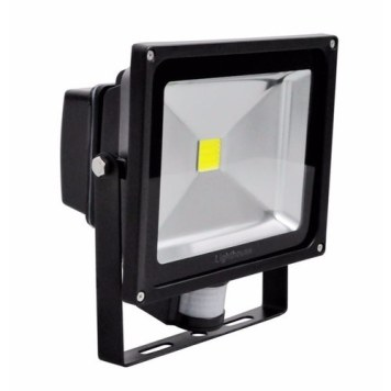 Lighthouse IP65 Ultra Efficient LED Black Aluminium PIR Floodlight - 30 Watt