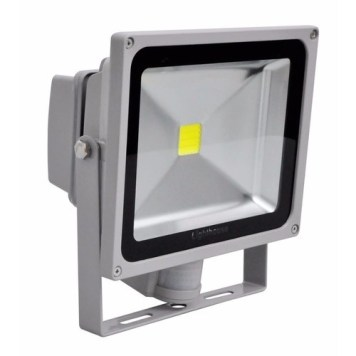 Lighthouse IP65 Ultra Efficient LED Grey Aluminium PIR Floodlight - 30 Watt