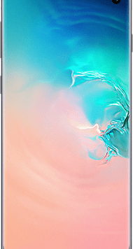 Samsung Galaxy S10 (128GB Prism White) at £29.00 on Red (24 Month(s) contract) with UNLIMITED mins; UNLIMITED texts; 24000MB of 5G data. £39.00 a month.