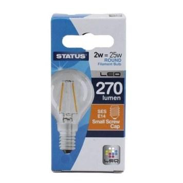 Status 2W Round LED Filament Bulb - SES
