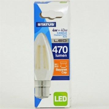 Status 4W Candle LED Pearl Filament Bulb - BC