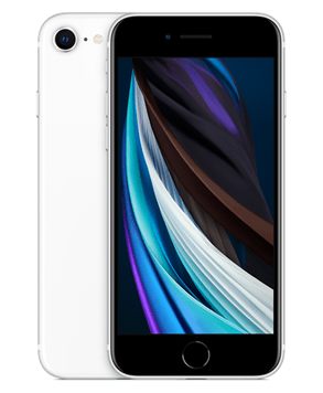 Apple iPhone SE (2020) (128GB White) at £29.00 on Red (24 Month(s) contract) with UNLIMITED mins; UNLIMITED texts; 24000MB of 5G data. £43.00 a month.