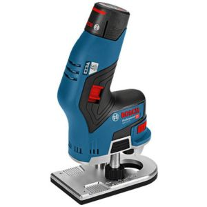 Bosch Bosch GKF 12V-8 Professional Palm Router with 2 x 3Ah Batteries, Charger and L-Boxx