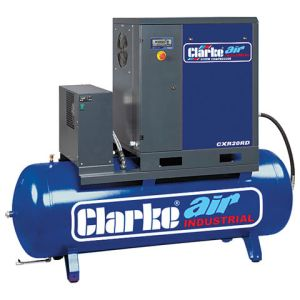 Clarke Clarke CXR20RD 65.3cfm 500Litre 20HP Industrial Screw Compressor with Air Receiver & Dryer (400V)