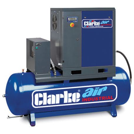 Clarke Clarke CXR5RD 17.1cfm 200Litre 5.5HP Industrial Screw Compressor with Air Receiver & Dryer (400V)