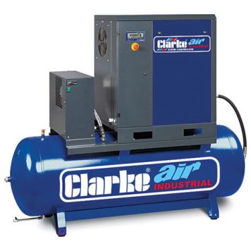 Clarke Clarke CXR5RD 17.1cfm 200Litre 5.5HP Industrial Screw Compressor with Air Receiver & Dryer (400V)