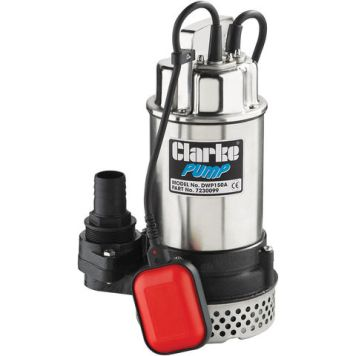 "Clarke Clarke DWP150A 1½"" 1100W 250Lpm 12m Head Submersible Dirty Water Pump With Float Switch (230V)"