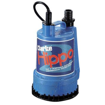 "Clarke Clarke Hippo 2 1"" 250W 85Lpm 6m Head Submersible Water Pump (230V)"