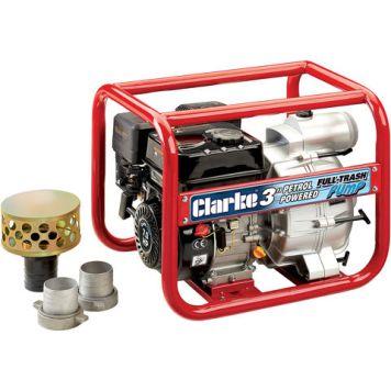 "Clarke Clarke PF75A Petrol Powered 3"" Full-Trash Water Pump"
