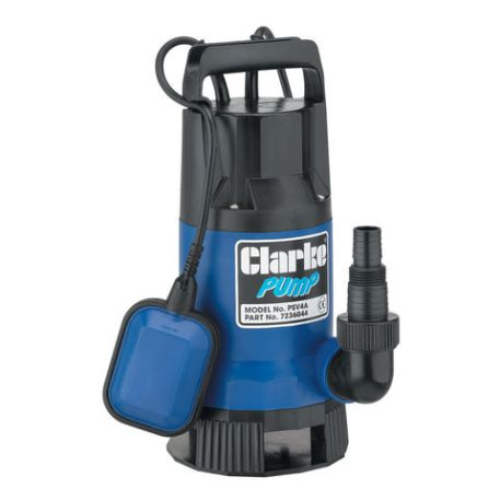 "Clarke Clarke PSV4A 1½"" 750W 216Lpm 8m Head Dirty Water Submersible Pump with Float Switch (230V)"