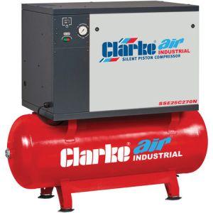Clarke Clarke SSE25C270N 23cfm 270Litre 5.5HP Low Noise Piston Air Compressor (400V)