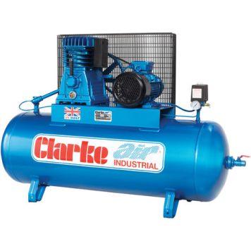 Clarke Clarke XE25/200 (WIS) 23cfm 200Litre 5.5HP Industrial Air Compressor (400V)