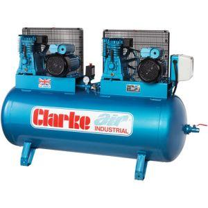 Clarke Clarke XE37/270 (O/L) 36cfm 270Litre 2x4HP Industrial Air Compressor (230V)