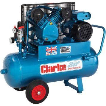 Clarke Clarke XEPV16/50 (OL) 14cfm 50Litre 3HP Portable Industrial Air Compressor (230V)