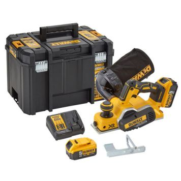 DeWalt DeWalt DCP580P2 18V XR 82mm Cordless Planer with 2x5.0Ah Batteries