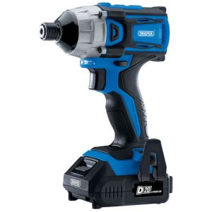 """Draper Draper D20 20V Brushless 1/4"""" Impact Driver with 2 x 2Ah Batteries and Charger (180Nm)"""