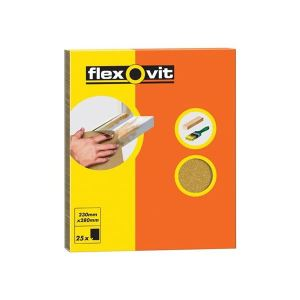 Flexovit Glasspaper Sanding Sheets 230 x 280mm Coarse 50G (15)