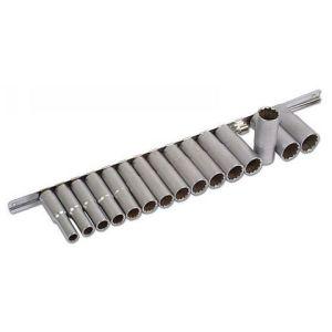 """Laser Laser 3660 15 Piece 1/2"""" Deep Bi-Hex Socket Set 10 - 24mm"""