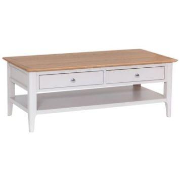 Necton Oak Dove Grey 2 Drawer Coffee Table
