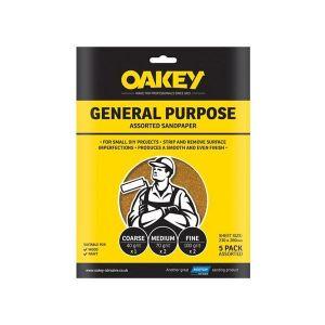Oakey Glasspaper Sanding Sheets 230 x 280mm Grade 2.5 (25)