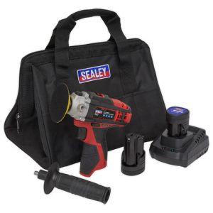 Sealey Sealey CP1205KIT Cordless Polisher Kit Ø71mm 12V - (2 Batteries, Charger & Bag)