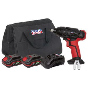 "Sealey Sealey CP20VIWKIT Impact Wrench 20V 1/2""Sq Drive 230Nm - (2 Batteries, Charger & Bag)"