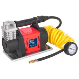 Sealey Sealey MAC05 12V Heavy-Duty Tyre Inflator/Mini Air Compressor 4.5m Hose