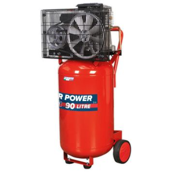 Sealey Sealey SAC1903B 9.7cfm 90Litre 3HP Vertical Belt Drive Air Compressor (230V)