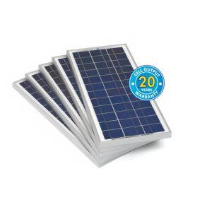 Solar Technology International PV Logic 20Wp Bulk Packed Solar Panels (5 Pack)