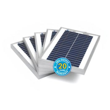 Solar Technology International PV Logic 5Wp Bulk Packed Solar Panels (5 Pack)