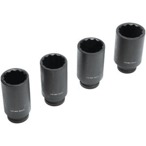 "Machine Mart 4 Piece 1/2"" Drive Metric Cr-Mo Impact Sockets (30-36mm)"