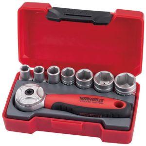 "Teng Teng Tools T1408 1/4"" Drive 8 Piece Metric Socket Set"