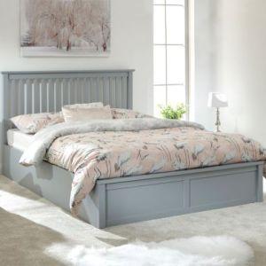 Como King Size Ottoman Bed Grey