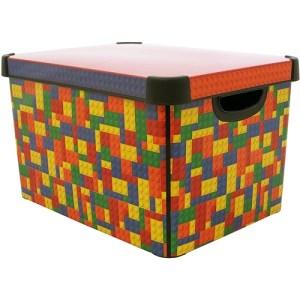 Curver Bright Blocks 22L Deco Storage Box